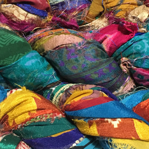 Rangeen Brights - silk sari ribbon