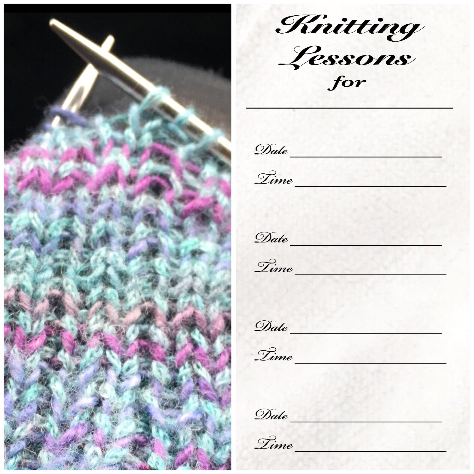 Private Knit Class
