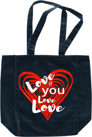 Love If You Love Love Tote Bag - Sleek