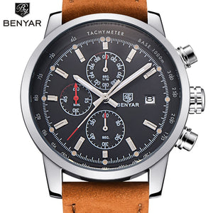 The Top Brand Silver Black: Chronograph