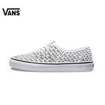 Genuine Vans Sneakers Letter Printed Low-top Trainers Men Sports Skateboarding Shoes Breathable Classic Canvas Vans Shoes Men