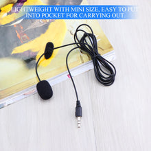 Fornorm Portable Mini Lapel Microphone with 3.5mm audio jack