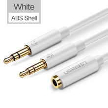 UGreen Splitter 3.5mm Jack Female to 2 Male Audio And Mic Adapter