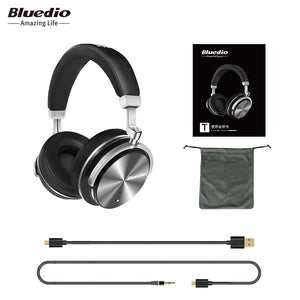 Bluedio T4S Active Noise Cancelling Wireless Headphones with Microphone