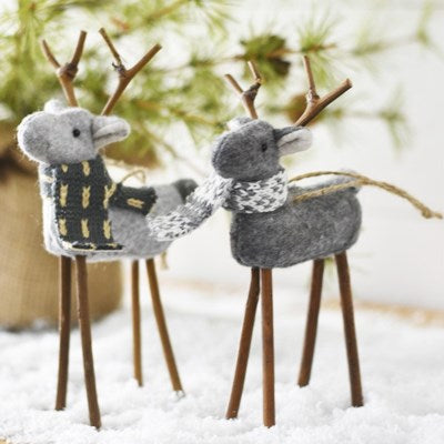 Fabric Deer Ornaments