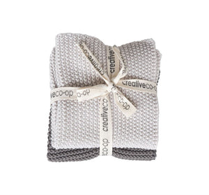 Square Cotton Knit Dishcloth Set