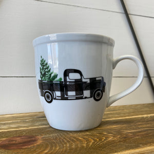 Buffalo Plaid Truck Mug