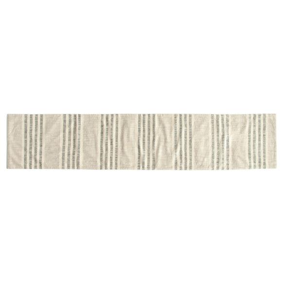 Cream Striped Table Runner