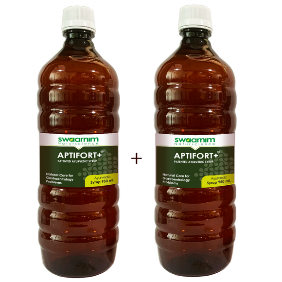 Aptifort+ Syrup 950ml - Sugar Free - Pack of 2 - Patented Ayurvedic Syrup