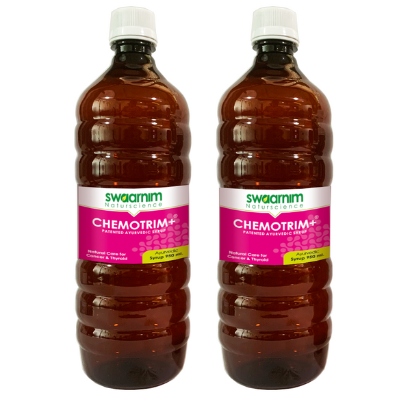 Chemotrim+ Syrup 950ml - Sugar Free - Pack of 2 - Patented Ayurvedic Syrup