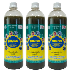Nimgo - Pack of 3 bottles - Organic Input - For all plants in all stages - Beneficial Microorganism