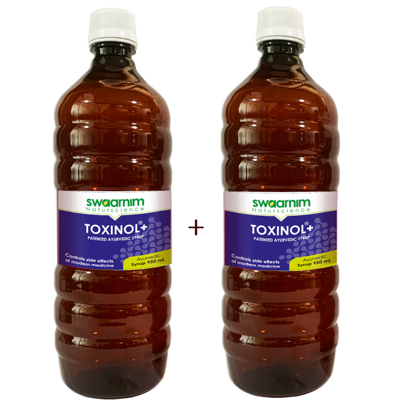 Toxinol+ Syrup 950ml - Sugar Free - Pack of 2 - Patented Ayurvedic Syrup