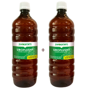 Uroflush+ Syrup 950ml - Sugar Free - Pack of 2 - Patented Ayurvedic Syrup