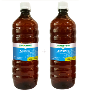 Aidsol+ Syrup 950ml - Sugar Free - Pack of 2 - Patented Ayurvedic Syrup