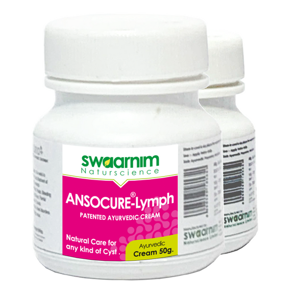 Ansocure Lymph Cream - Pack of 2 - Patented Ayurvedic Cream