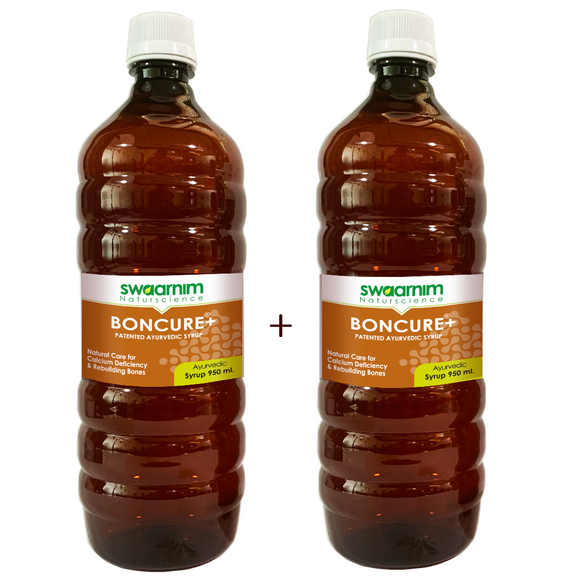 Boncure+ Syrup 950ml - Sugar Free - Pack of 2 - Patented Ayurvedic Syrup