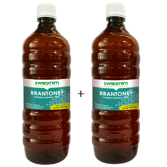 Brantone+ Syrup 950ml - Sugar Free - Pack of 2 - Patented Ayurvedic Syrup