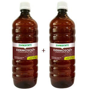 Dermosol+ Syrup 950ml - Sugar Free - Pack of 2 - Patented Ayurvedic Syrup