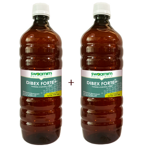 Dibex Forte+ Syrup 950ml - Sugar Free - Pack of 2 - Patented Ayurvedic Syrup