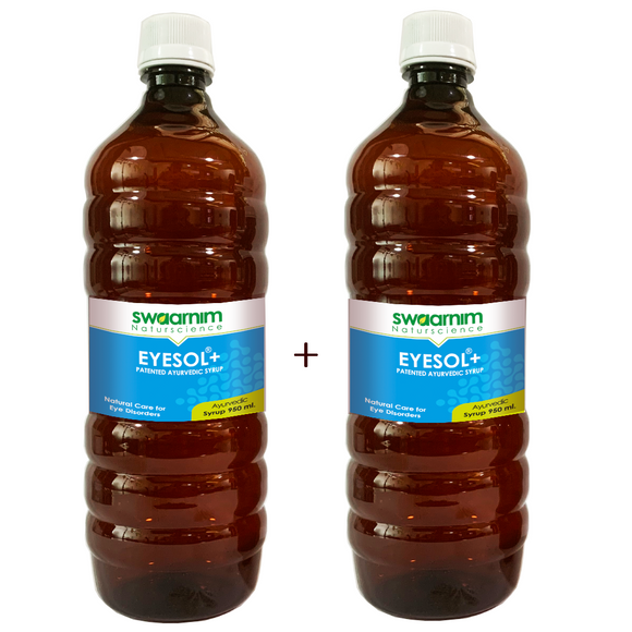 Eyesol+ Syrup 950ml - Sugar Free - Pack of 2 - Patented Ayurvedic Syrup