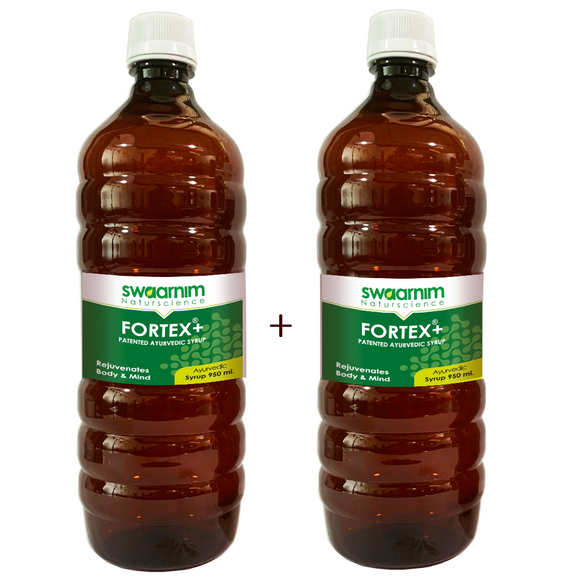 Fortex+ Syrup 950ml - Sugar Free - Pack of 2 - Patented Ayurvedic Syrup