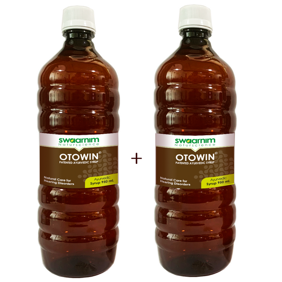 Otowin Syrup 950ml - Sugar Free - Pack of 2 - Patented Ayurvedic Syrup