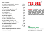 Tee Bee Syrup 950ml - Sugar Free - Pack of 2 - Patented Ayurvedic Syrup