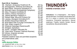 Thunder+ Syrup 950ml - Sugar Free - Pack of 2 - Patented Ayurvedic Syrup