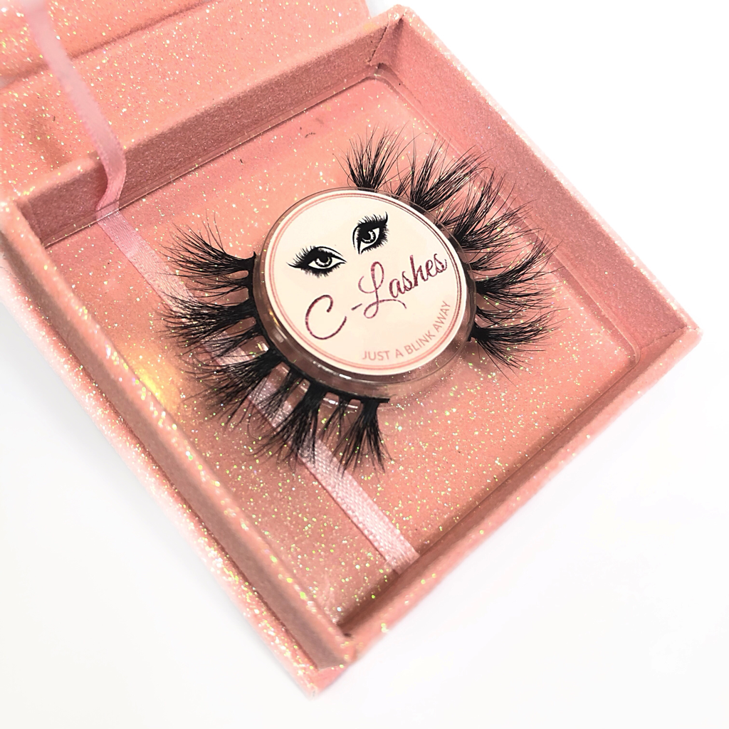 Latest style lashes. Flufy, clustered lashes style glam from c-lashes.