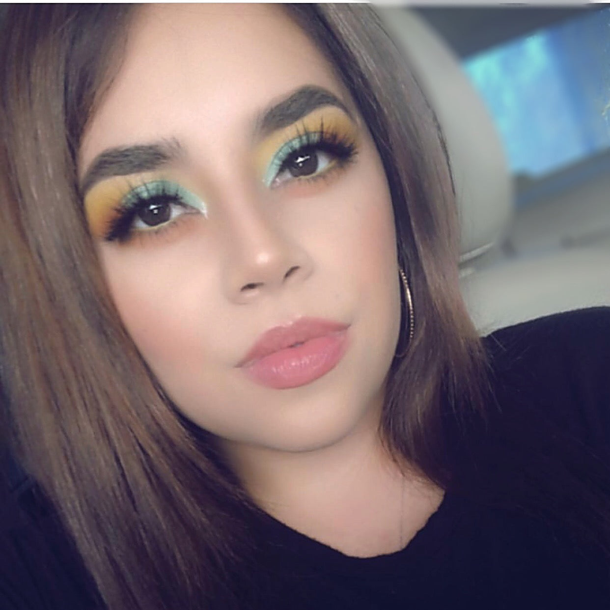 Green and yellow eyeshadow look using issawife from c-lashes.