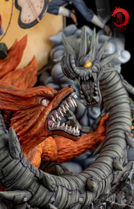 Dragon Tiger Studio UCHIHA MADARA KURAMA VS HASHIRAMA SENJU WOOD DRAGON (NARUTO) 1:8 Scale Statue