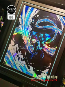 Mystical Art Tanjiro Kamado Art Print Framed (Demon Slayer)