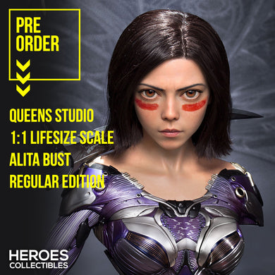 Queen Studios 1:1 Scale Alita Lifesize Bust (Regular Edition)