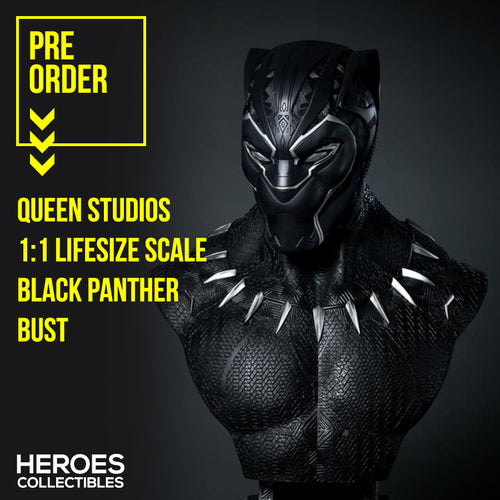 1:1 Scale Black Panther Lifesize Bust