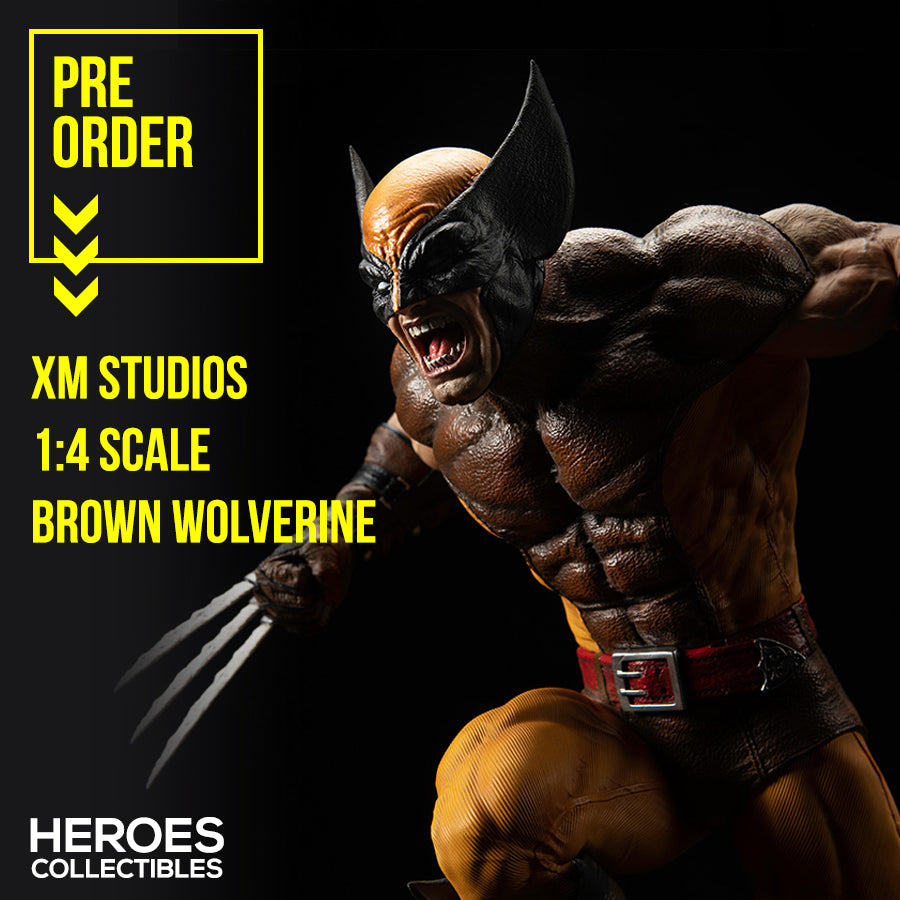 1:4 Scale Brown Wolverine