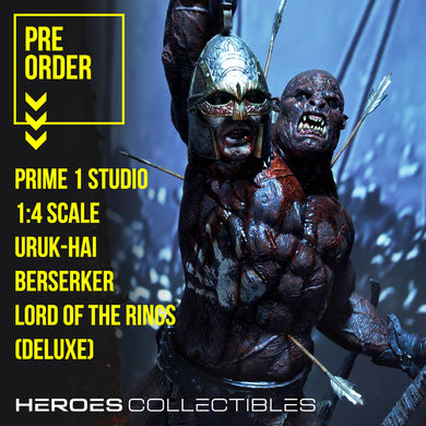 Prime 1 Studios Uruk-Hai Berserker (Lord of the Rings) (Deluxe Edition) 1:4 Scale Statue