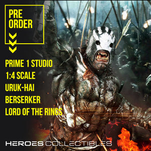 Prime 1 Studios Uruk-Hai Berserker (Lord of the Rings) (Regular Edition) 1:4 Scale Statue
