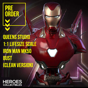 Queen Studios 1:1 Scale Iron Man MK50 Lifesize Bust (Clean Version)