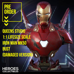 Queen Studios 1:1 Scale Iron Man MK50 Lifesize Bust (Damaged Version)
