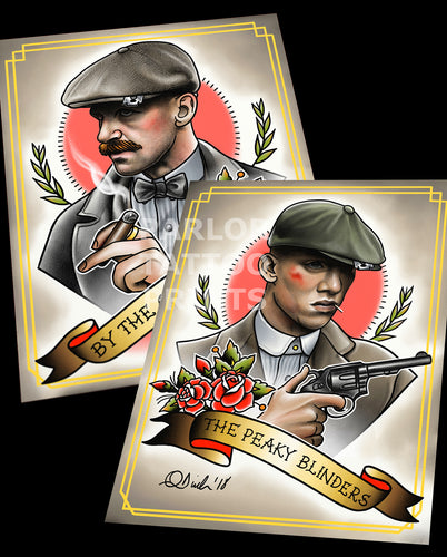 Peaky Blinders Arthur and/or John Shelby Tattoo Flash Art Print (Choose your option)