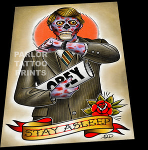 They Live Tattoo Flash Art Print (11x17)