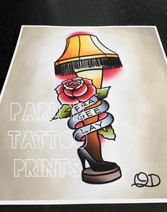 A Christmas Story Tattoo Flash Art Print (Choose Your Print(s))