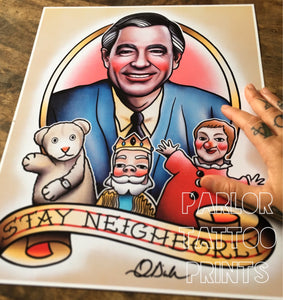 Mr Rogers Flash Art Print