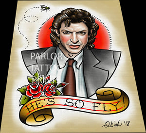 Seth Brundle (Jeff Goldblum) Tattoo Flash Art Print