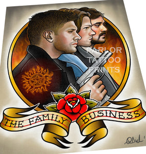 Supernatural Tattoo Flash Art Print – Parlor Tattoo Prints