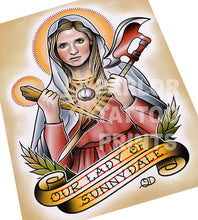 Buffy Our Lady of Sunnydale Flash Art Print