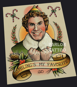 Buddy the Elf Tattoo Art Print
