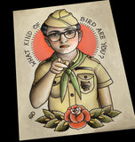 Sam Shakusky Moonrise Kingdom Tattoo Flash Art Print