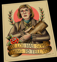 Log Lady Twin Peaks Tattoo Flash Art Print