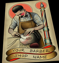 Customizable Barbering Shave Print